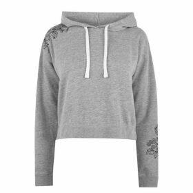 Jack Wills Merrial Embroidered Hoodie - Grey Marl