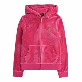 Juicy Couture Zip Through Hoodie - Raspberry Rose