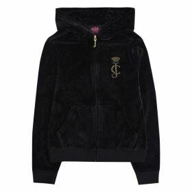 Juicy Couture Zip Through Hoodie - Black