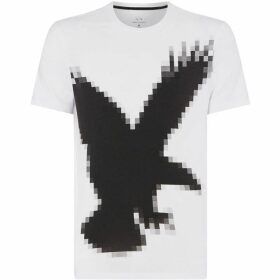Armani Exchange Pixelated Eagle Graphic T-Shirt