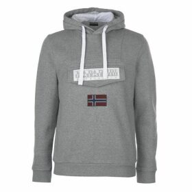 Napapijri Logo Hoodie - Grey Marl