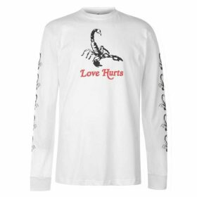 Swallows and Daggers Scorpion Love Hurts T Shirt - White