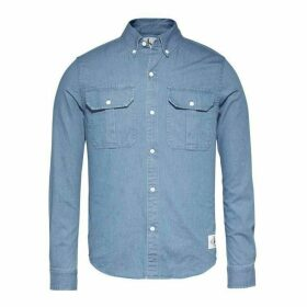 Calvin Klein Jeans Indi Regular Long Sleeve Shirt - Indigo