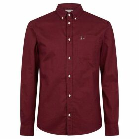 Jack Wills Wadsworth Plain Oxford Shirt - Damson