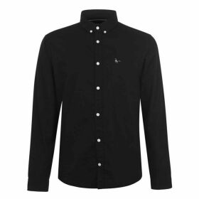 Jack Wills Wadsworth Plain Oxford Shirt - Black