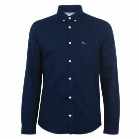 Jack Wills Wadsworth Plain Oxford Shirt - Navy