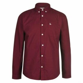 Jack Wills Wadsworth Classic Oxford Shirt - Damson