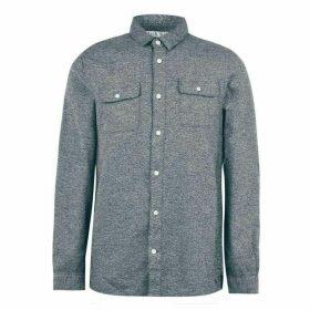 Jack Wills Barberry Jaspe 2 Pocket Shirt - Dark Green