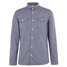 Jack Wills Barberry Jaspe 2 Pocket Shirt - Navy