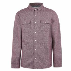 Jack Wills Barberry Jaspe 2 Pocket Shirt - Damson