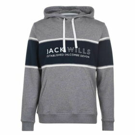 Jack Wills Howden Cut And Sew Hoodie - Grey Marl