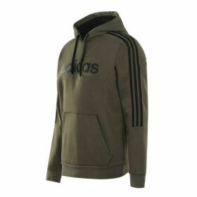 adidas 3 Stripes Logo Over The Head Hoody Mens - Khaki/Black