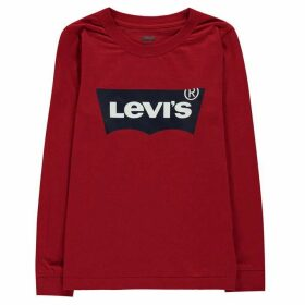 Levis Long Sleeve Batwing T Shirt - Red R86
