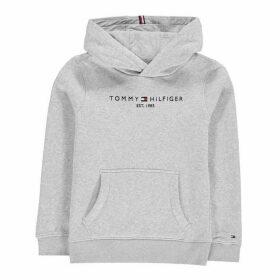 Tommy Hilfiger Essential Logo Hoodie - Lt Grey Htr