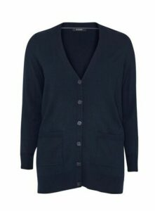 Navy Blue Button Cardigan, Navy