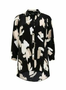 Black Printed Shirt, Black