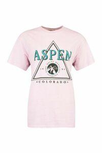 Womens Petite Neon Slogan T-Shirt - Pink - L, Pink