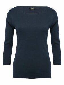 Women's Ladies Spirit navy three quarter length sleeve top