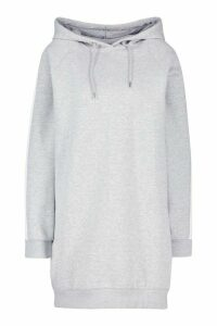 Womens Constrast Panel Ovesized Hoody - Grey - 16, Grey