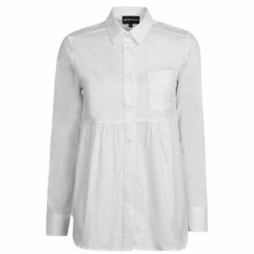 Emporio Armani Ruched Waist Long Sleeve Shirt