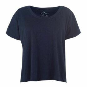 Velvet Sleeve T Shirt