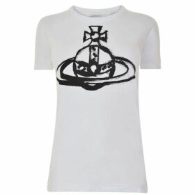 Vivienne Westwood Anglomania Brushstroke Orb T Shirt