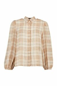 Womens Check Shirt - cream - 14, Cream