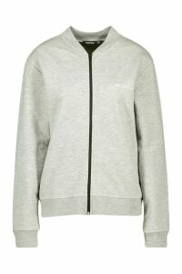 Womens Boohoo Woman Zip Through Jacket - Grey - 14, Grey