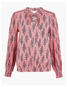 Per Una Printed Pussybow Blouse