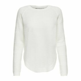 Fine Knit Jumper with Gathered Waist