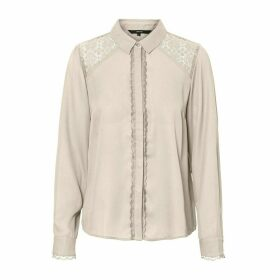 Embroidered Blouse with Lace Details