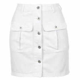 Jack Wills Marden Denim Utiliy Skirt - White