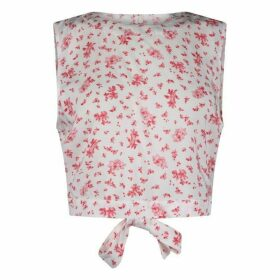 Jack Wills Goodlife Floral Tie Back Top - Pink
