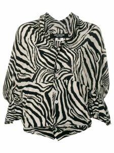 Junya Watanabe Comme des Garçons Pre-Owned zebra striped top - Black