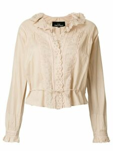 Comme Des Garçons Pre-Owned English embroidery cropped blouse -