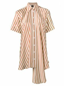 Jean Paul Gaultier Pre-Owned striped oversized shirt - Brown