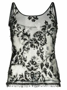 Dolce & Gabbana Pre-Owned lace tank top - Black