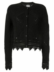 Chanel Pre-Owned 2004 crochet-knit cardigan - Black