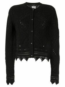 Chanel Pre-Owned 2004 crochet-knit cardigan - Black