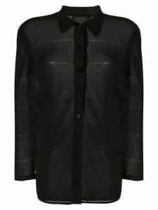 Chanel Pre-Owned 1997 sheer slim-fit shirt - Black