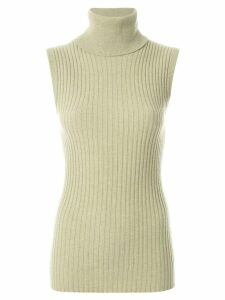 Chanel Pre-Owned 1993 ribbed knitted top - Green
