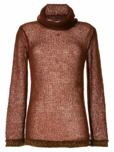 Chanel Pre-Owned 1998 loose-knit jumper - Brown