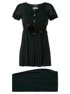 Chanel Pre-Owned pleated blouse and trousers - Black