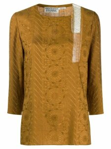 Gianfranco Ferré Pre-Owned floral print top - GOLD