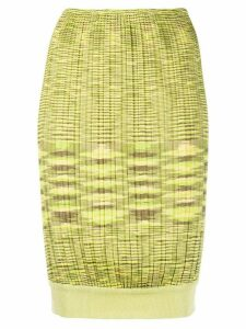 Missoni Pre-Owned ribbed knit skirt - Green