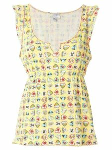 Chanel Pre-Owned 2006 signature heart print blouse - Yellow
