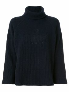 Fendi Pre-Owned turtleneck ribbed jumper - Blue