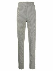 Romeo Gigli Pre-Owned 1990s checked stretch trousers - Black