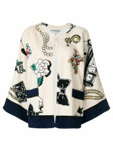 Chanel Pre-Owned 1994 CC icon cardigan - White