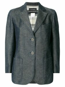 Chanel Pre-Owned CC single-breasted blazer - Blue